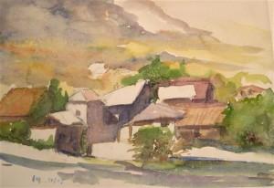 Le village de Meylan au d\