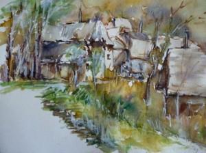 le village de Péchal en fin de journée